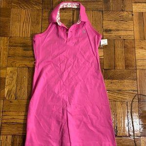 NWT kids Ralph Lauren pink backless dress
